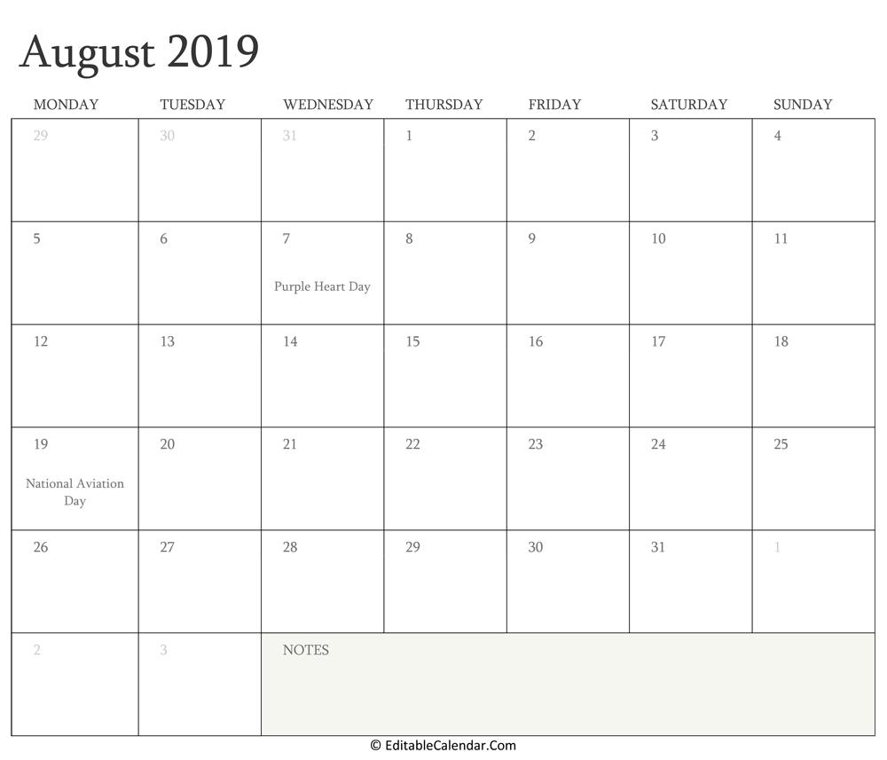 Fillable Calendar 2019.Editable Calendar 2020 2021