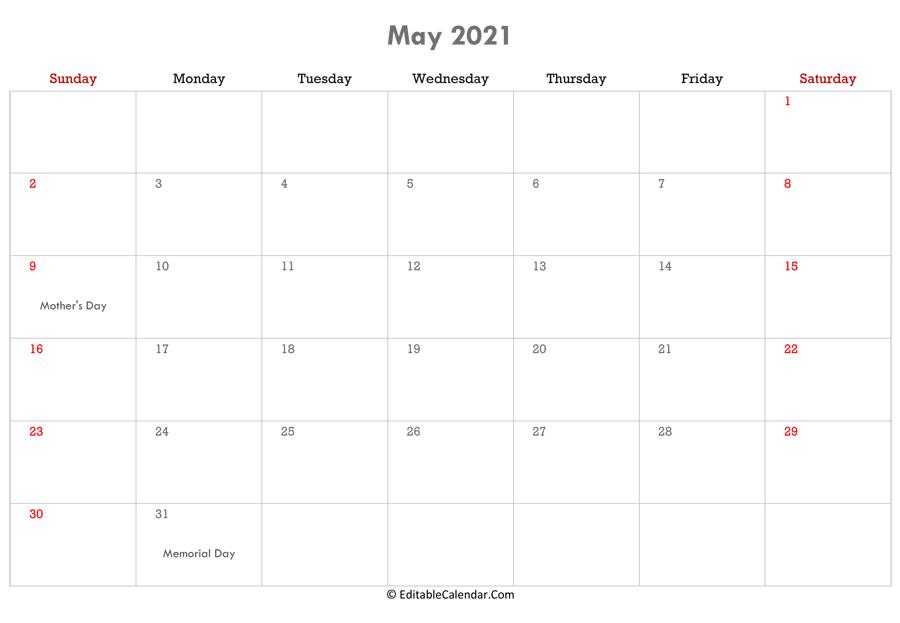 Calendar Editable 2022.Editable Calendar 2021 2022