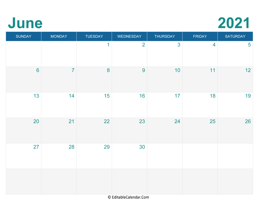 printable monthly calendar june 2021