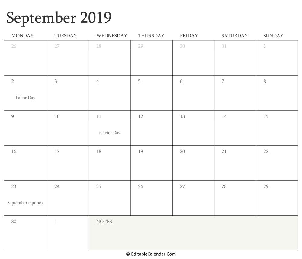 Editable Calendar 2020, 2021
