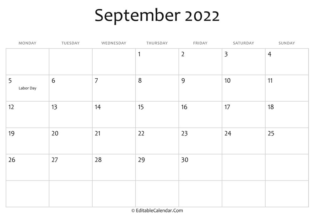 Calendar September 2022.September 2022 Calendar Templates